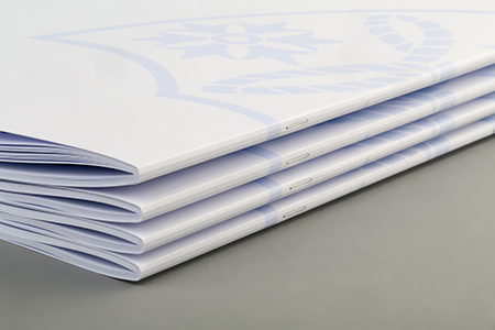 Stitched brochures